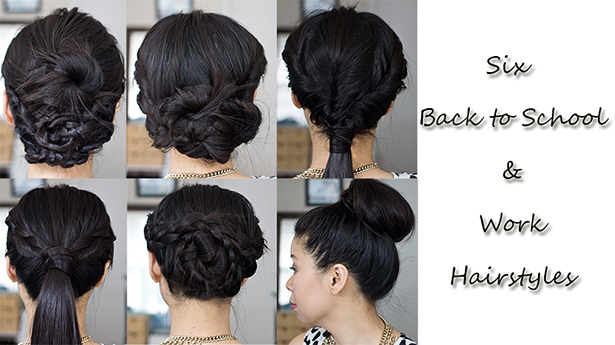 Six Simple Hairstyles for Work or Back to School - LaBelleMel