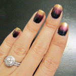 Ombre Nail Tutorial: Gold, Burgundy & Pewter