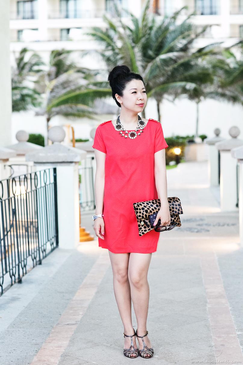 Cancun Day 3 Leopard & Orange Shift Dress_1