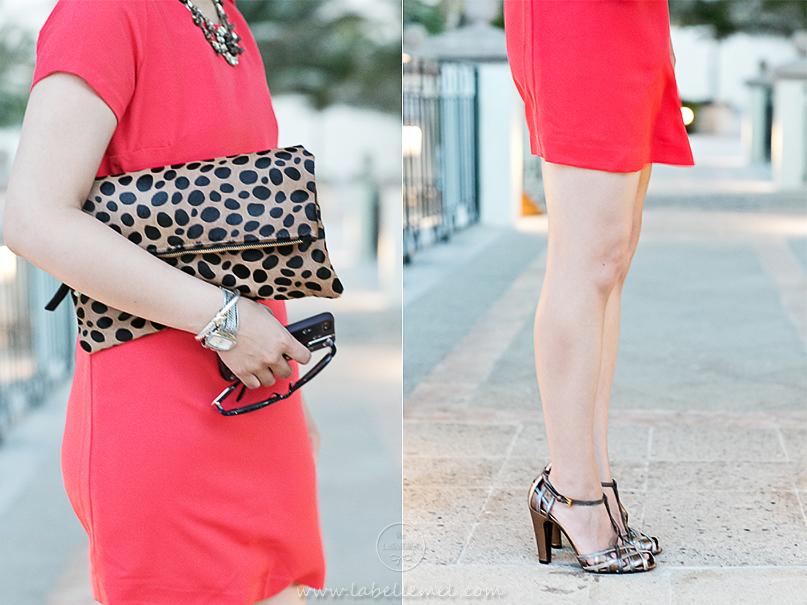 Cancun Day 3 Leopard & Orange Shift Dress_2