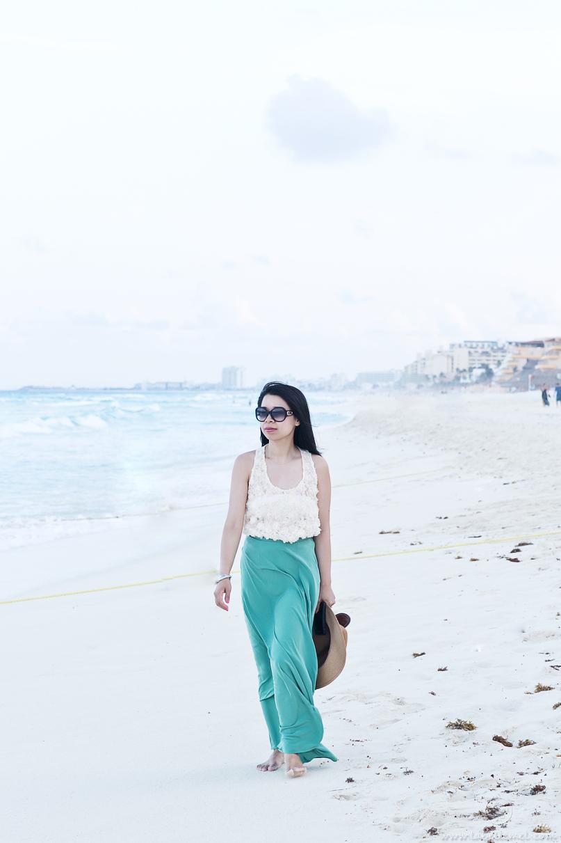 Cancun Day 4 Night - Rosette & Silk Maxi_1