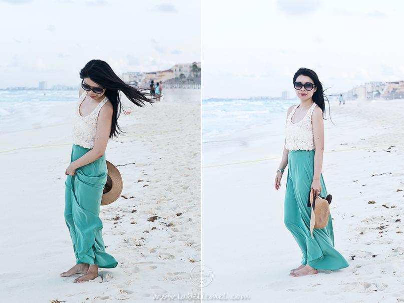 Cancun Day 4 Night - Rosette & Silk Maxi_2