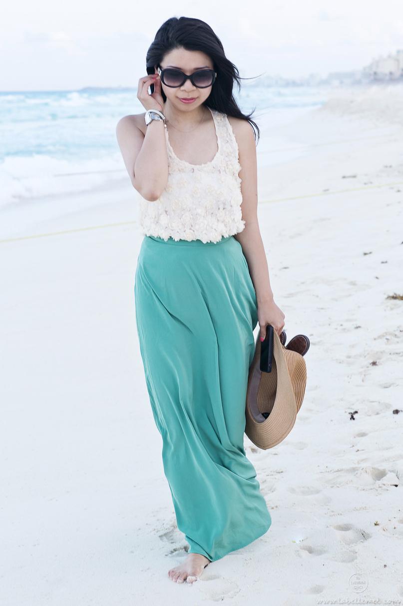 Cancun Day 4 Night - Rosette & Silk Maxi_3