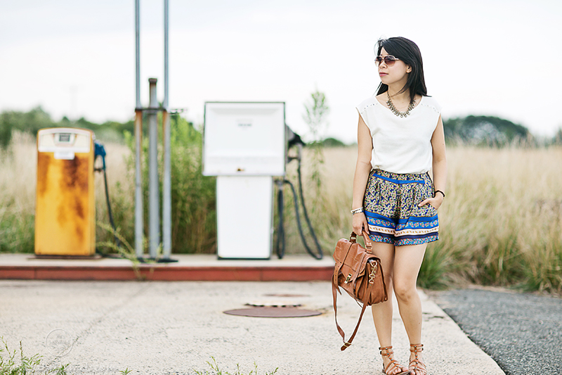 LaBelleMel - Studded Knit & Floral Shorts_1