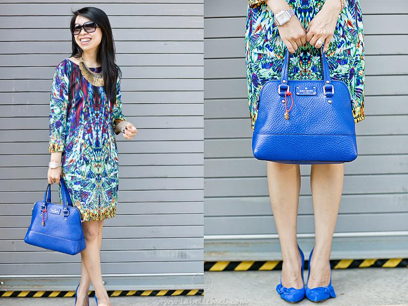 LaBelleMel-Feeling Blue-Printed Dress-ManRepeller-2