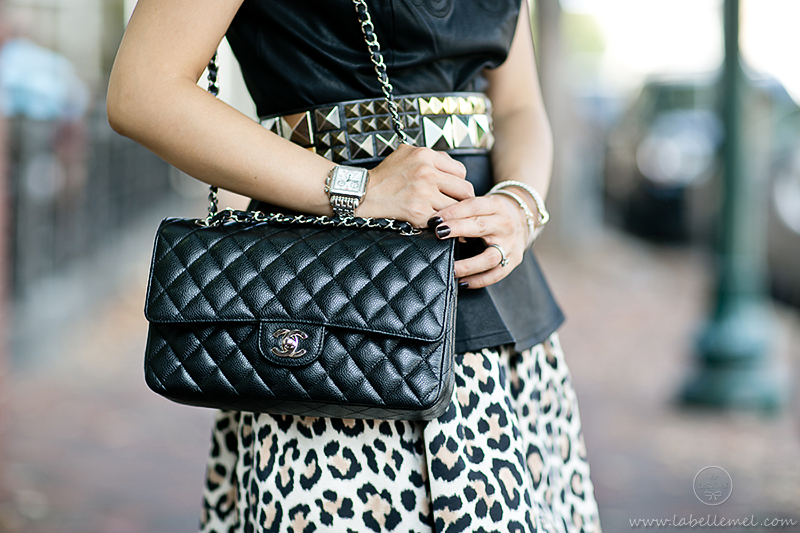 LaBelleMel-Pleather Peplum & Leopard Skirt-3