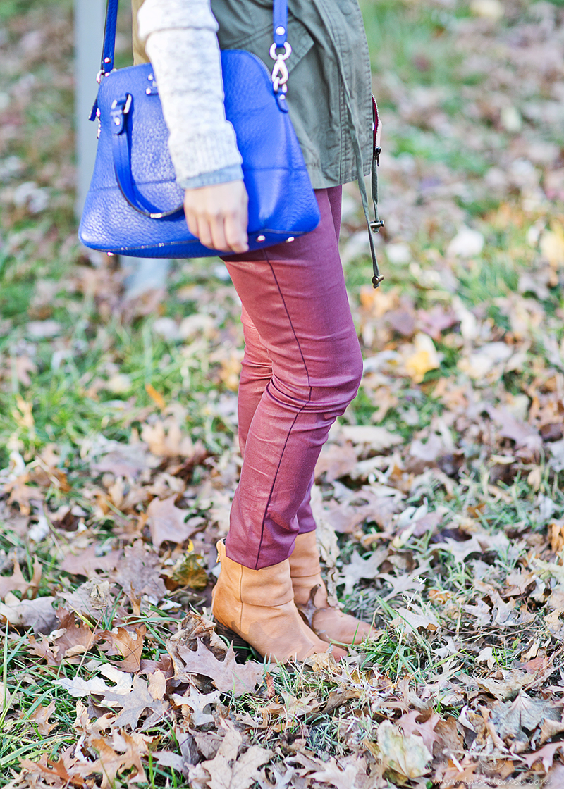 LaBelleMel-Fall Casua-Burgundy and Hunter Green-3