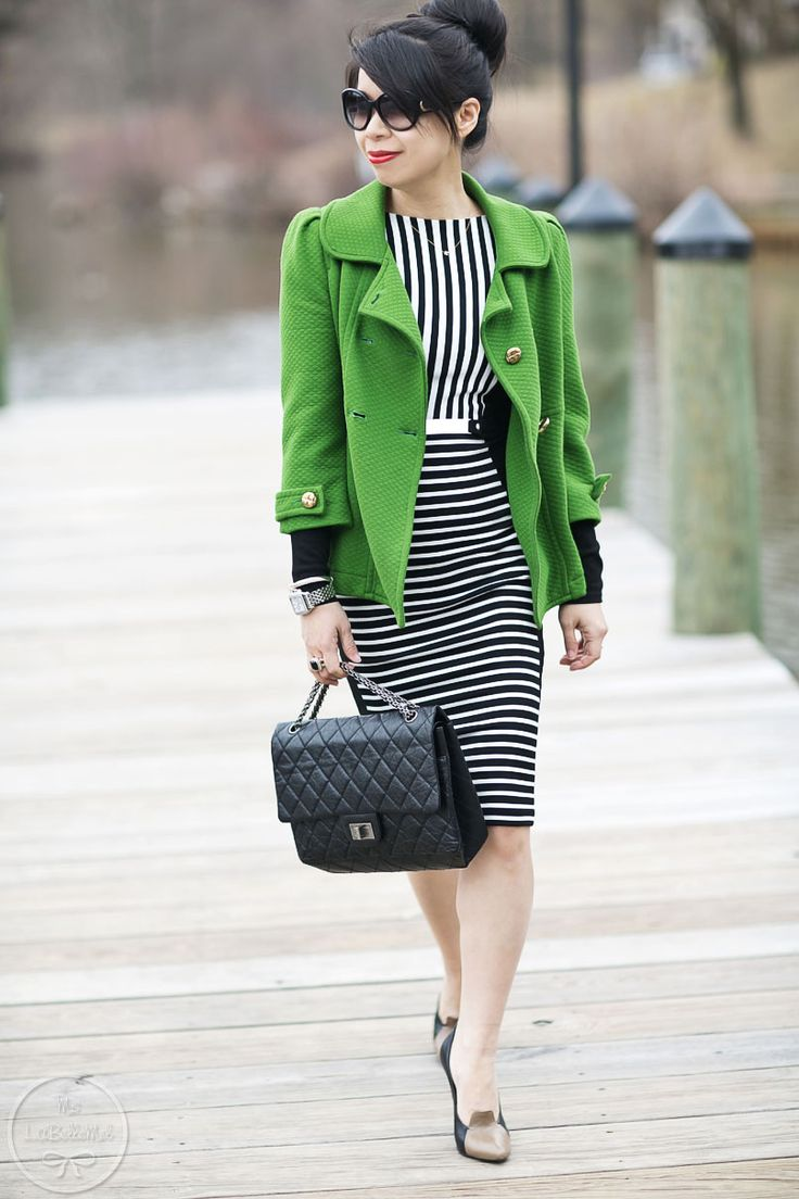 2. LaBelleMel-Lucky-Charm-Green-Black-White-Stripes-2013