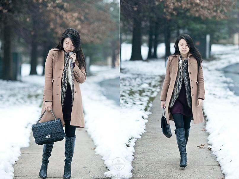 LaBelleMel_Burgundy_Dress_Faux_Fur_Vest_2