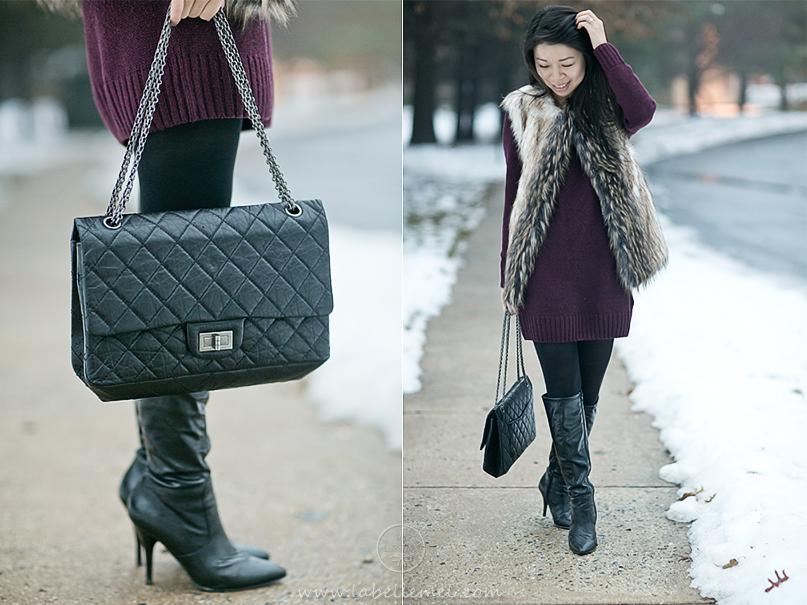 LaBelleMel_Burgundy_Dress_Faux_Fur_Vest_4