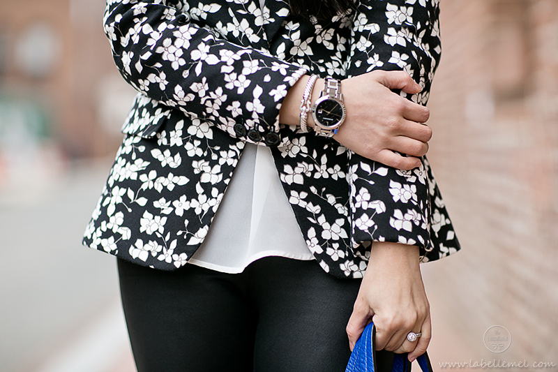 LaBelleMel-B&W-Printed-Floral-Blazer-Cut-out-Pumps-5