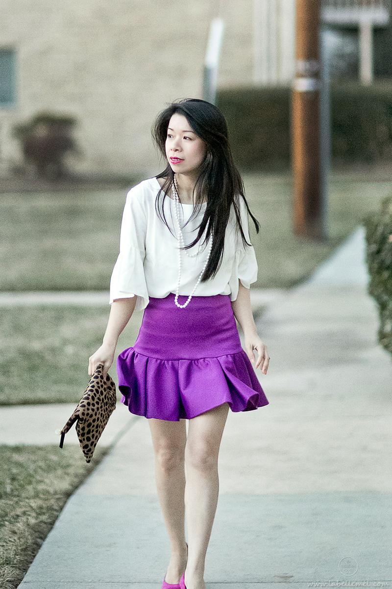LaBelleMel-Flounce-Ruffle-Sleeve-Blouse-Ruffle Skirt-3