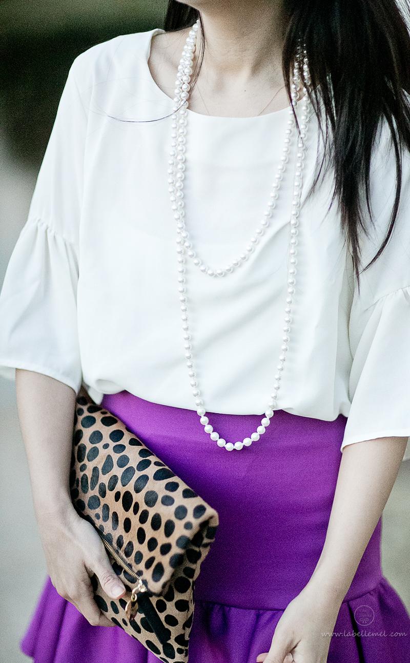 LaBelleMel-Flounce-Ruffle-Sleeve-Blouse-Ruffle Skirt-4