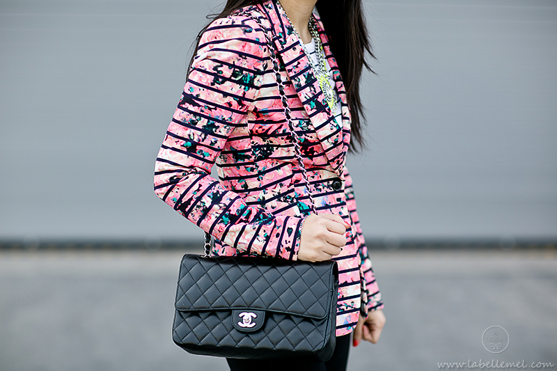 LaBelleMel-Mixing it Up --Abstract Floral & Striped Blazer-3