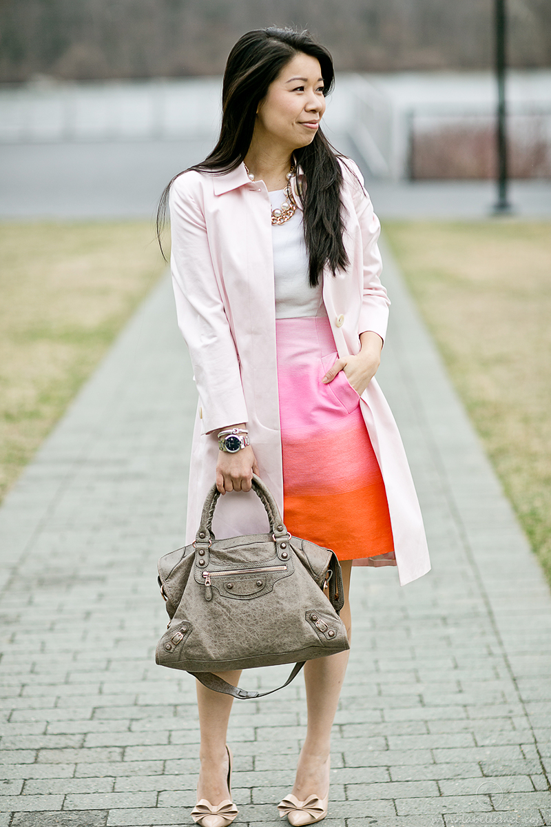 LaBelleMel-Pretty-in-Pink-Spring-Ombre-Shift-Dress-Blush-Pink-Trench-1