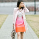 LaBelleMel-Pretty-in-Pink-Spring-Ombre-Shift-Dress-Blush-Pink-Trench-2