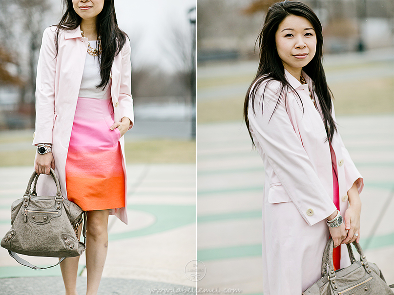 LaBelleMel-Pretty-in-Pink-Spring-Ombre-Shift-Dress-Blush-Pink-Trench-3