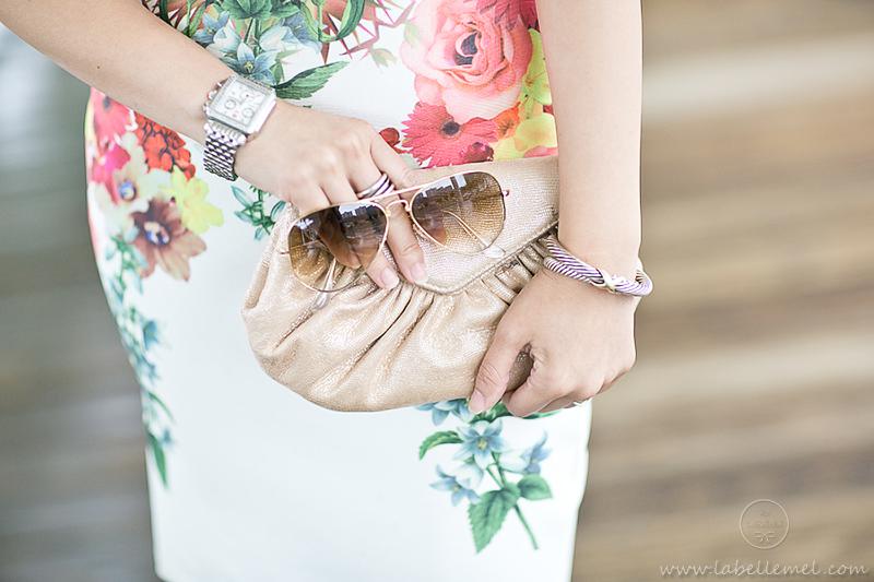 LaBelleMel_Date_Night_Scuba_Summer_Dress_Raybans_Foldable_Aviators_4