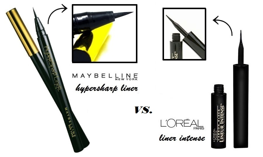 LaBelleMel_Faceoff_Review_Maybelline_Hyper_Sharp_Liner_vs_L'Oreal_Linear_Intense_Liner