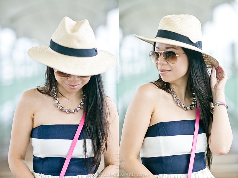 LaBelleMel_Navy_Bold_Stripe_Summer_Dress_Pink_Accents_5
