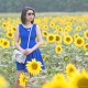 LaBelleMel_Sunflower_Field_Summer_Cobalt_Dress_1