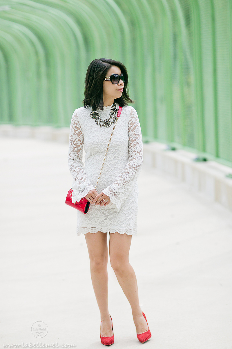 LaBelleMel_White_Lace_Dress_Red_Accents_1