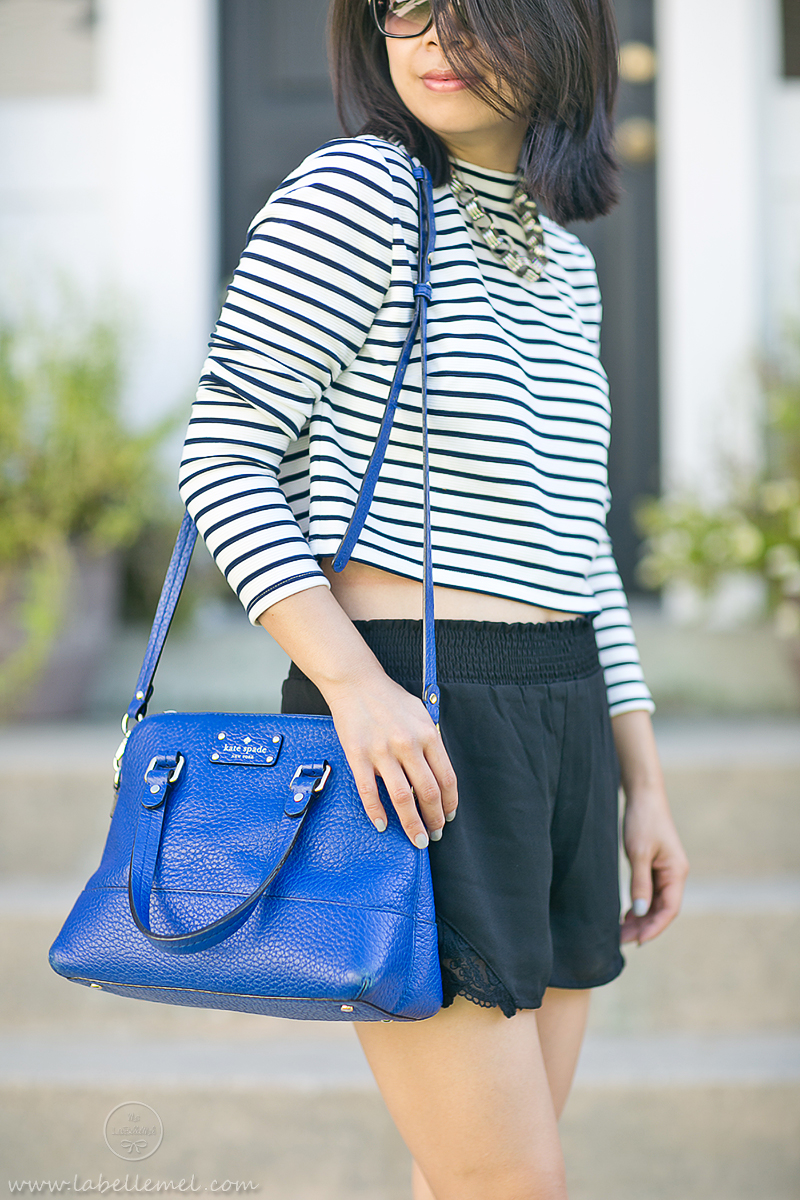 LaBelleMel_Black_Blue_Cropped_Striped_Top_Lace_Shorts_3