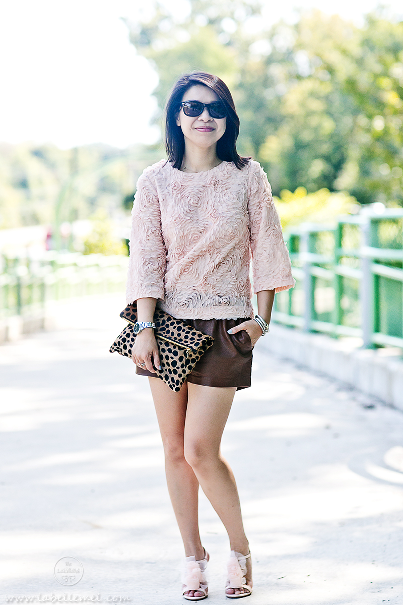 LaBelleMel_La_Vie_en_Rose_Rosette_Top_Pleather_Shorts_1