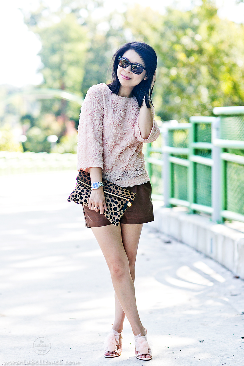 LaBelleMel_La_Vie_en_Rose_Rosette_Top_Pleather_Shorts_2