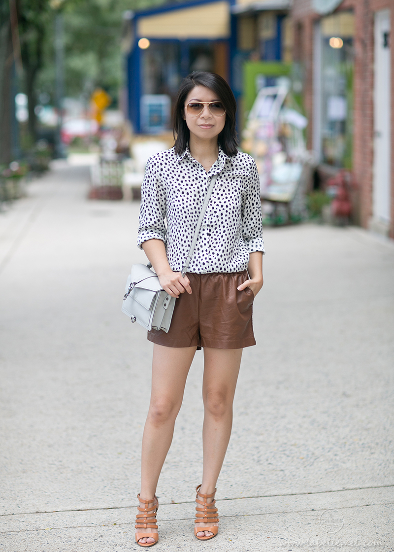LaBelleMel_Prints_Pleather_Shorts_1