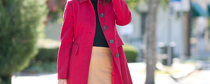 LaBelleMel_Autumn_Colors_Workwear_Wednesday_Red_Coat_Camel_Skirt_1