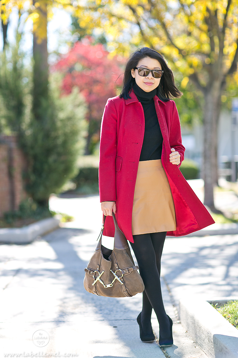 LaBelleMel_Autumn_Colors_Workwear_Wednesday_Red_Coat_Camel_Skirt_3