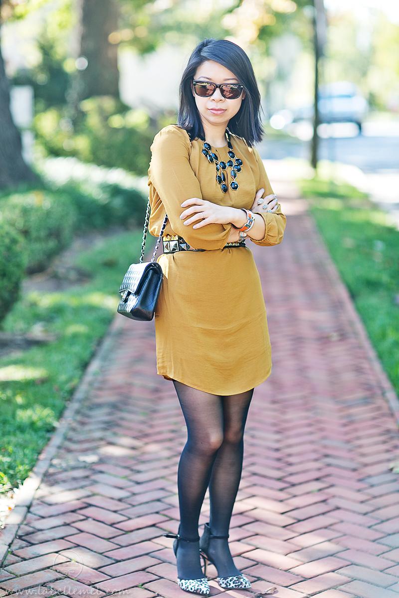 LaBelleMel_Marigold_Shift_Dress_Black_Accessories_1
