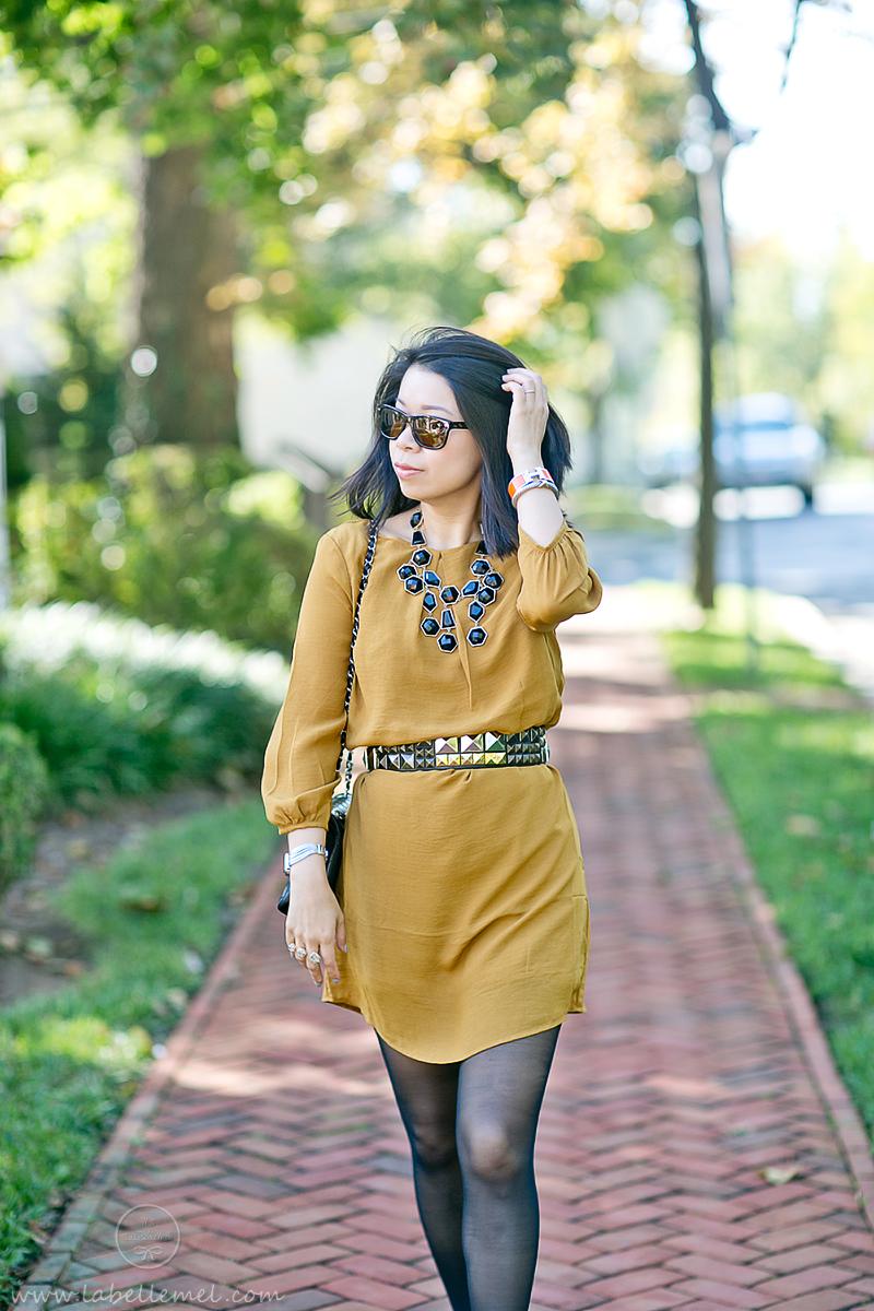 LaBelleMel_Marigold_Shift_Dress_Black_Accessories_2