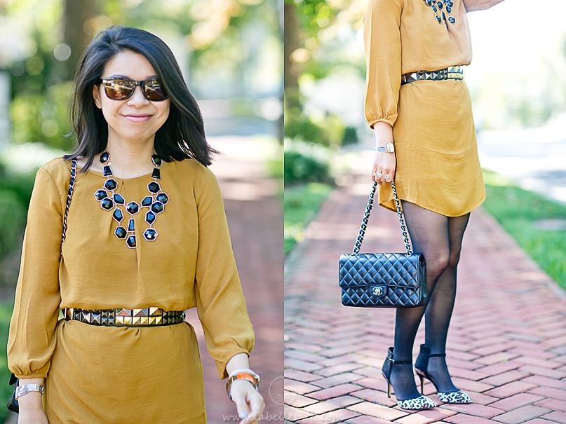 LaBelleMel_Marigold_Shift_Dress_Black_Accessories_4