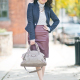 LaBelleMel_Workwear_Wednesday_Navy_Blazer_Burgundy_Pleather_Pencil_Skirt_1