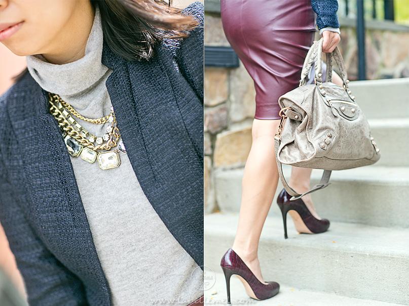 LaBelleMel_Workwear_Wednesday_Navy_Blazer_Burgundy_Pleather_Pencil_Skirt_4