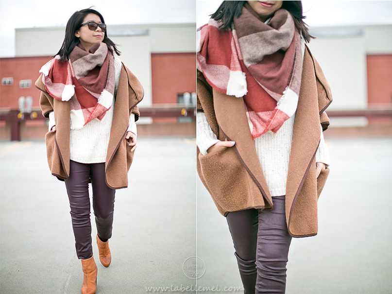 LaBelleMel_Winter_Cozy_Wool_Cape_Eggplant_Coated_Jeans_2