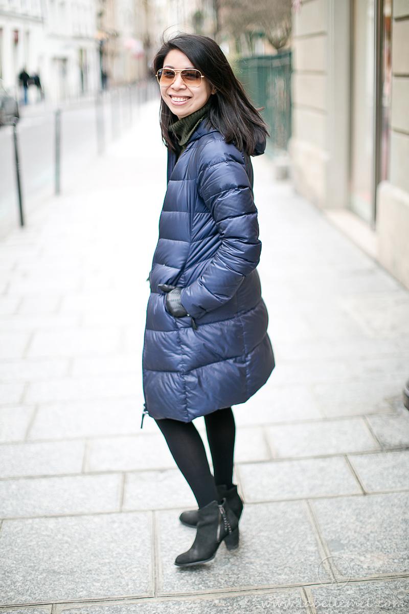 LaBelleMel_Paris_Winter_Hunter_Green_Sweater_Asymmetrical_Skirt_4