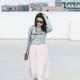 LaBelleMel_BonJour_Grey_Sweater_Blush_Midi_Skirt_1