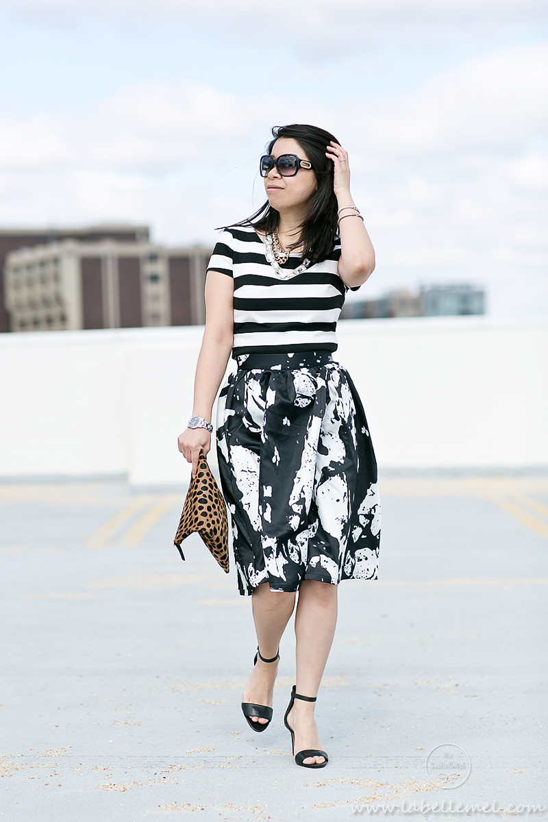 LaBelleMel_Mixed_Print_Black_White_OOTD_1