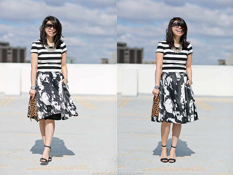 LaBelleMel_Mixed_Print_Black_White_OOTD_3